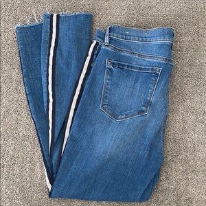 LOFT Stripe Modern Skinny Jeans
